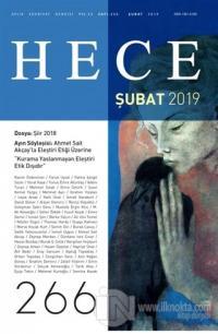 Hece Aylık Edebiyat Dergisi Sayı: 266 Şubat 2019 Kolektif