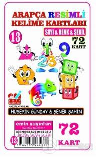 Sayı, Renk ve Şekil - Arapça Resimli Kelime Kartları 13 72 Kart