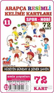 Spor Hobi - Arapça Resimli Kelime Kartları 11 72 Kart
